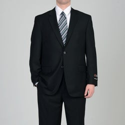Adolfo Men's Black 2-button Suit