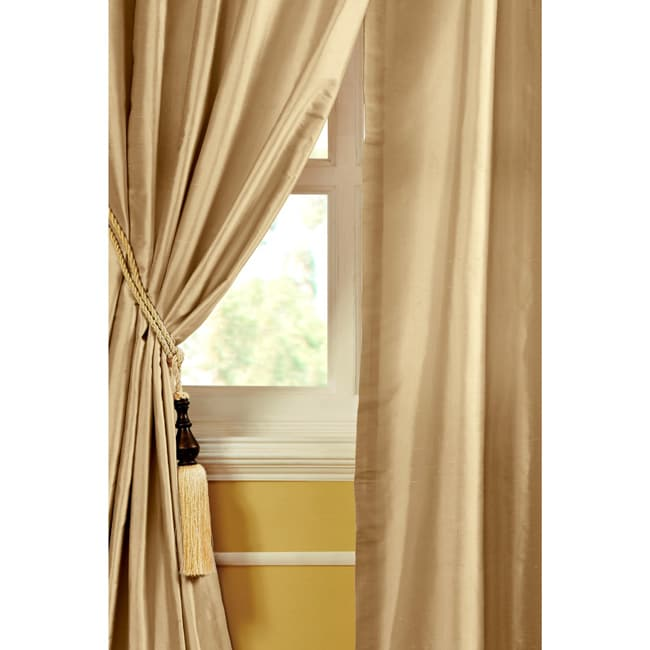 mallory dupioni silk 96 inch curtain panel 13695889