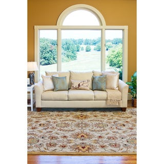 Hand-tufted Stage Gold Wool Rug (9' x 12')