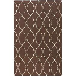 Hand-woven Providence Brown Wool Rug (3'6 x 5'6)