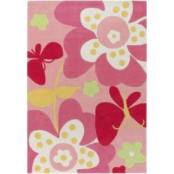 Hand-tufted Missy Pink Floral Rug (4'10 x 7')