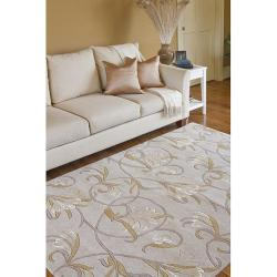 Hand-tufted Mitch Beige Wool Rug (5' x 8')