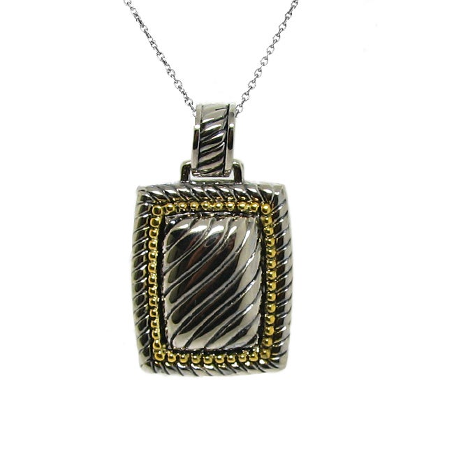 Two-tone Rectangle Necklace