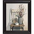 Cecile Baird 'Watering Can on Chair' Framed Art