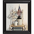 Cecile Baird 'Chair with Jug and Flag' Framed Art