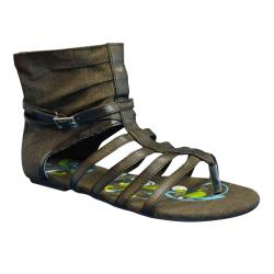 Muk Luks Womesn's Sun Luk Printed Canvas Gladiator Sandals
