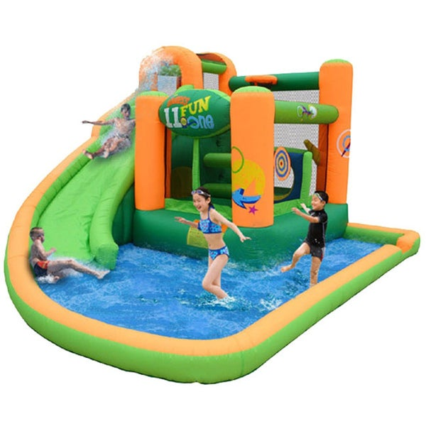 KidWise Endless Fun 11-in-1 Inflatable Bounce House and Waterslide 8128910