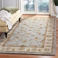 Handmade Heritage Kashmar Light Blue/ Beige Wool Rug (9&#39;6 x 13&#39;6)