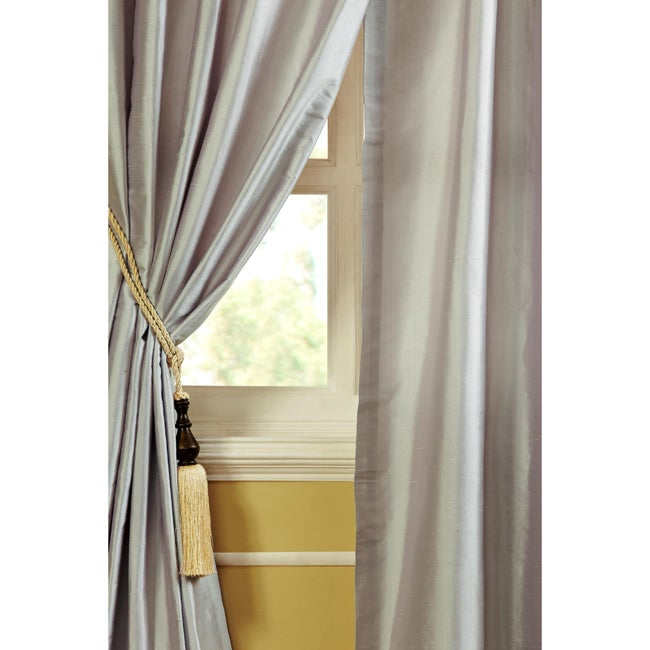 faye dupioni silk 84 inch curtain panel overstock