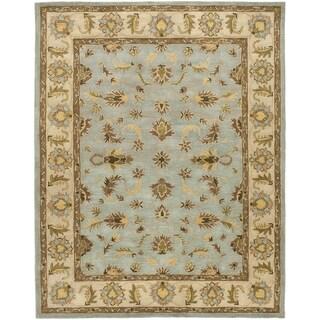 Safavieh Handmade Heritage Kashmar Light Blue/ Beige Wool Rug (4' x 6')