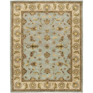 Handmade Heritage Kashmar Light Blue/ Beige Wool Rug (8'3 x 11')