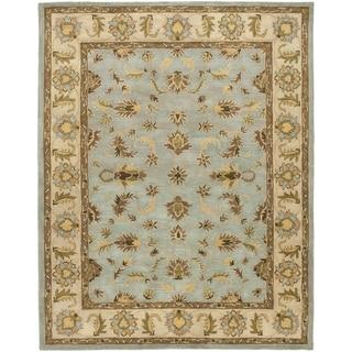 Safavieh Handmade Heritage Kashmar Light Blue/ Beige Wool Rug (6' x 9')
