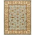 Handmade Heritage Kashmar Light Blue/ Beige Wool Rug (6' x 9')