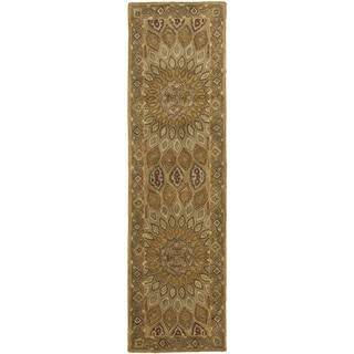 Safavieh Handmade Medallion Light Brown/ Grey Wool Runner (2'3 x 8')