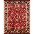 Safavieh Handmade Heritage Birj Red/ Navy Wool Rug (6' x 9')