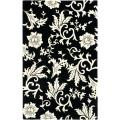Handmade Soho Sillo Black New Zealand Wool Rug (7'6 x 9'6)
