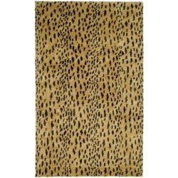 Safavieh Handmade Soho Leopard Skin Beige New Zealand Wool Rug (8'3 x 11')