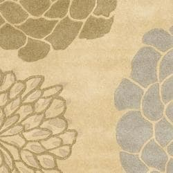 Safavieh Handmade Soho Bontanical Beige New Zealand Wool Rug (6' Square)
