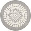 Handmade Soho Chrono Grey/ Ivory New Zealand Wool Rug (6' Round)