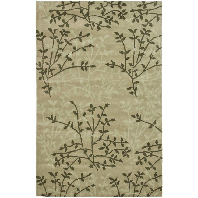 Safavieh Handmade Soho Moments Green New Zealand Wool Rug (5'x 8')