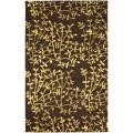 Handmade Soho Moments Brown New Zealand Wool Rug (3'6 x 5'6')