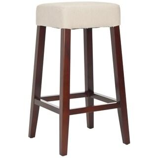 Safavieh Uptown Cream Linen Barstool