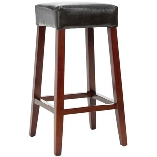 Safavieh Uptown Black Leather Barstool