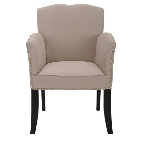 Safavieh Toulon Tan Linen Arm Chair