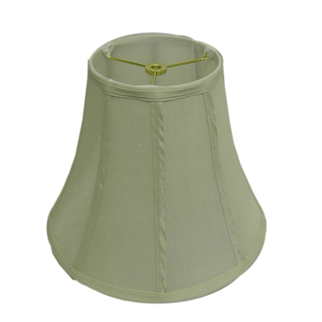 Stylish Round Ribbed Off-White Lamp Shade