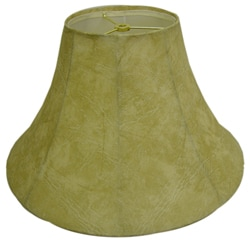 Textured Round Beige Faux Leather Lamp Shade
