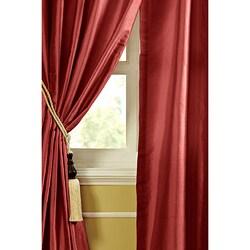 Ruby Dupioni Silk 84-inch Curtain Panel