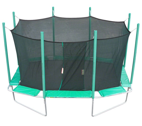 Magic Circle 9x14 Rectangle Trampoline with Safety Cage
