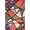 Hand-tufted New Wave Mosaic Rug (8' x 11')
