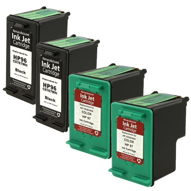 INSTEN HP 96/ 97 Ink Cartridge (Remanufactured) (Pack of 4)