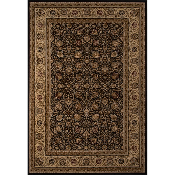 "Westminster Kashan Black Power-Loomed Rug (9'10"" x 13'6"")"