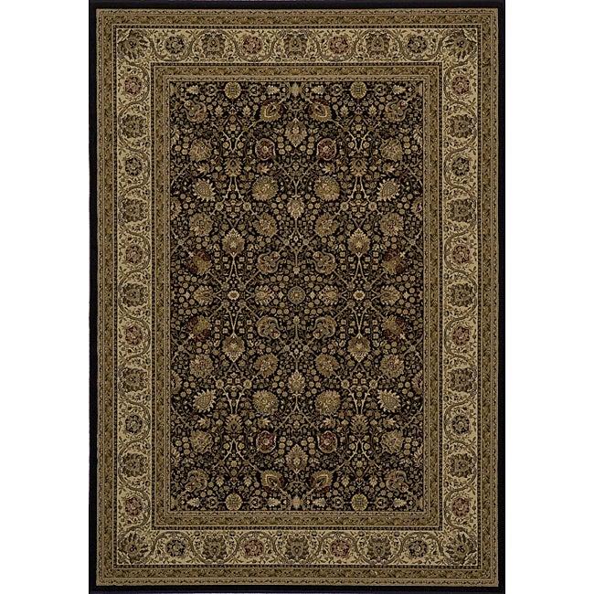"""Westminster Kashan Black Power-Loomed Rug (9'10"""" x 13'6"""")"""