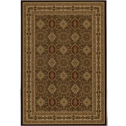 Westminster Tabriz Brown Panel Rug (11'3 x 15')