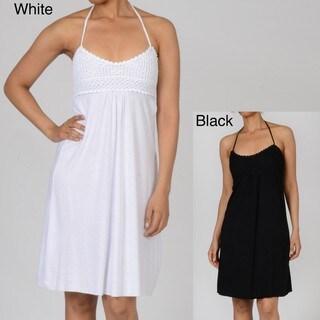 Elan Women's Halter Dress with Crochet Top