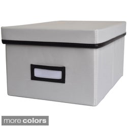 Decorative Canvas Lidded DVD Storage Box (6' x 11.625' x 8.375')