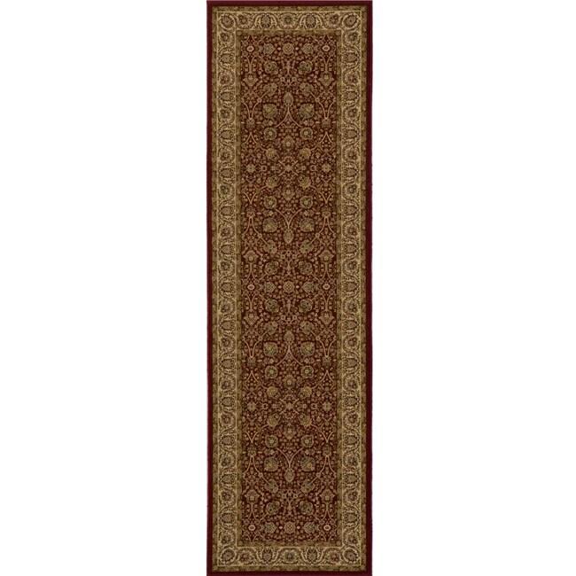 "Westminster Kashan Red Power-Loomed Rug (2'3"" x 7'10"")"