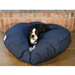 Round Navy 42-inch Blue Pet Bed