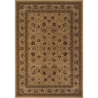 "Westminster Kashan Ivory Power-Loomed Rug (7'10"" x10'10"")"