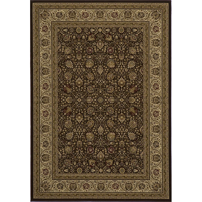 "Westminster Kashan Brown Power-Loomed Rug (7'10"" x10'10"")"