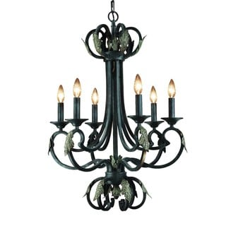 Woodbridge Lighting Easton 6-light Charcoal Chandelier