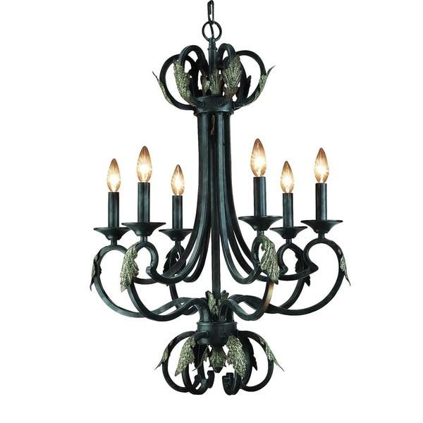 Woodbridge Lighting Easton 6-light Charcoal Chandelier