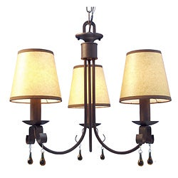 Woodbridge Lighting Breckenridge 3-light Rust Chandelier