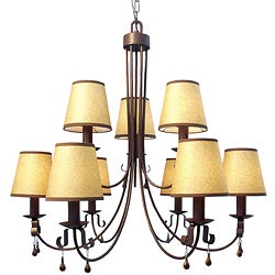 Woodbridge Lighting Breckenridge 9-light Rust Chandelier