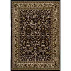 Westminster Black Kashan Rug (7'10 x 10'10)