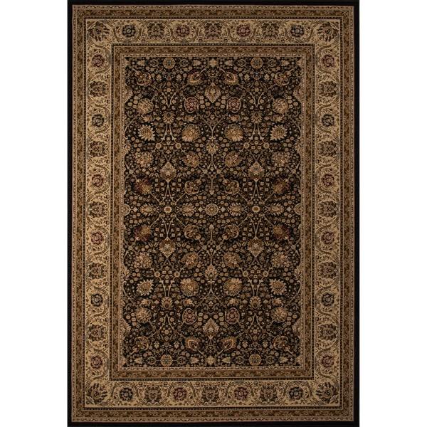 """Westminster Kashan Black Power-Loomed Rug (7'10"""" x10'10"""")"""
