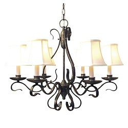 Woodbridge Lighting Manchester 6-light Charcoal Chandelier